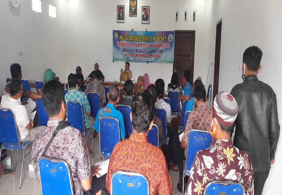 Musyawarah Desa Khusus Validasi KPM BLT Desa TA 2021