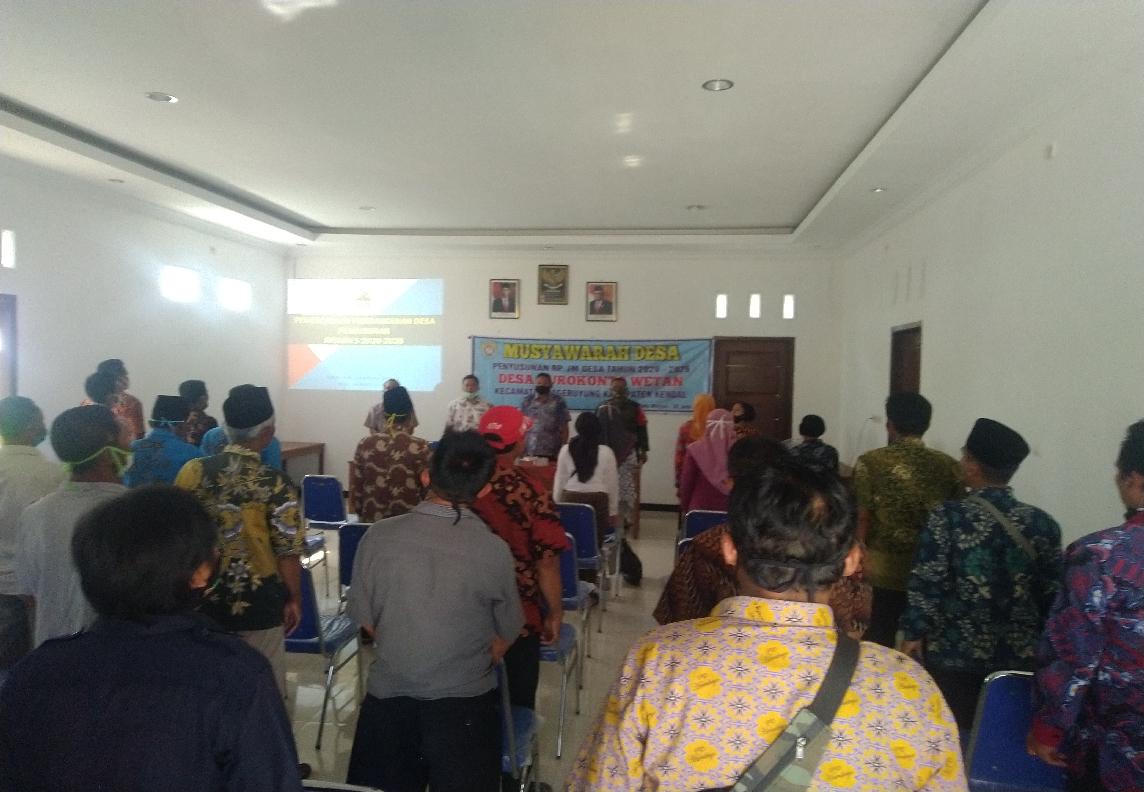Musyawarah Desa Penyusunan RPJMDesa Tahun 2020-2026