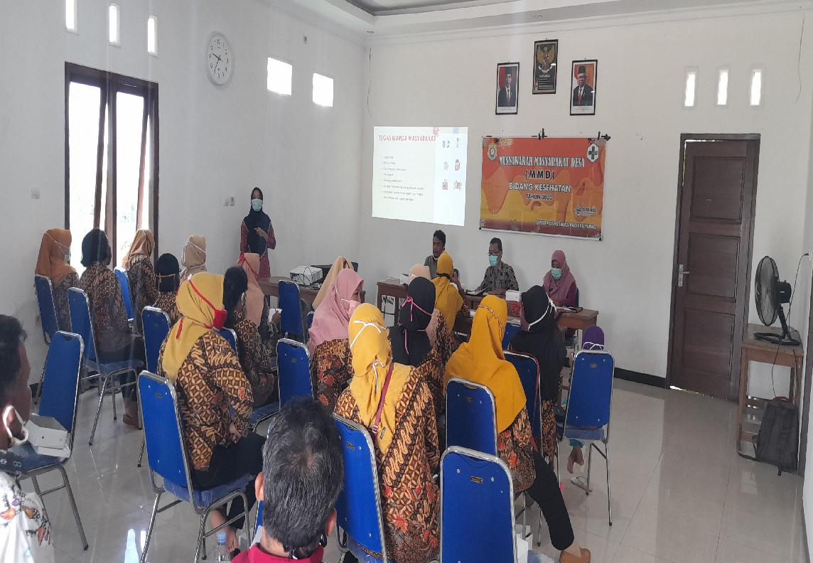 Musyawarah Masyarakat Desa (MMD) bersama Puskesmas Pageruyung